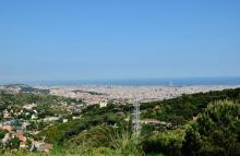 La Sierra de la Collserolaabriga la ciudadde Barcelona. Foto: Wikimedia Commons