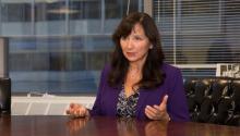 Sharon López, the first Latina president of the Pennsylvania Bar Association, spoke with AL DÍA in 2017. Samantha Laub / AL DÍA News