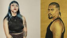 """Los retratos de Shizu Saldamando se inspiran en sus círculo de amigos, en gente """"hecha a sí misma"""". Vía Vice y LA Times."""