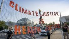 Climate activists participate in a 'Shut Down DC' protest to urge action on the climate crisis, on Independence Avenue near Capitol Hill in Washington, Monday, Sept. 23, 2019. (AP Photo/J. Scott Applewhite) (AP/J. Scott Applewhite)