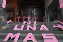 International Women's Day intervention in Mexico City.Photo by Mario Guzmán.