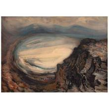 """Auction of the piece """"View of the Bay of Puerto Marqués"""" by Mexican artist David Siqueiros."""
