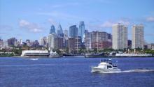 Skyline de Filadelfia visto desde el río Delaware. Foto: Wikimedia/Commons