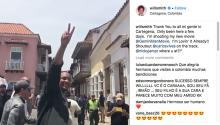Will Smith in Cartagena. Taken from his Instagram account.