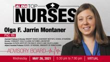 Dr. Olga F.Jarrín Montaner is one of the advisory board members of the 2021 AL DÍA Top Nurses Forum & Awards event. Graphic: AL DÍA News.