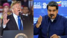 U.S. President Donald Trump (Left) and the questioned Venezuelan President Nicolás Maduro (right). Photos: EFE.