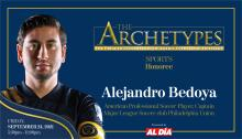 Alejandro Bedoya, professional soccer player and Philadelphia Union captain and midfielder will be a 2021 Ambassador Manuel Torres Award recipient. Graphic: Maybeth Peralta/AL DÍANews.