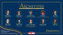 The 6th Annual Hispanic Heritage Gala & Awards Ceremony will take place Sept. 24. These are the 10 archetypes who will be honored. Graphic: Maybeth Peralta/AL DÍA News.