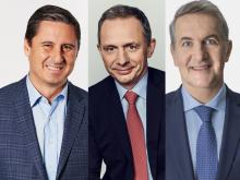 Mauricio Gutierrez, Enrique Lores and Ramon Laguarte are just three of the 16 Hispanic CEOs of S&P 500 companies. Photos (left to right): NRG, Chief Executive, Fortune.
