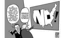 ¡Estados ilegales votaron!