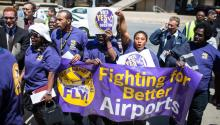 Airport workers have been fighting for higher wages and better job conditions for three years having significant victories.