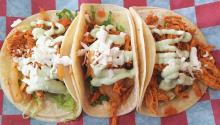 Chicken tinga Tacos are among the Mexico City street food offered. Eli Siegel
