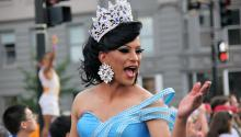 The Latina/Latino contingent is one of the largest at Capital Pride. Many Latinos dress in drag and ride on a float and in cars. Gay Festival in Washington DC. 2011