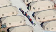 "Immigrant children, many of whom have been separated from their parents under a new ""zero-tolerance"" policy by the Trump administration, are being housed in tents next to the Mexican border in Tornillo, Texas, on June 18, 2018. Mike Blake/Reuters."