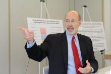 Gov. Tom Wolf is calling on U.S. Congress to reauthorize the Violence Against Women Act. (File photo)