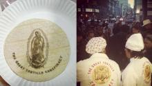 """El colectivo del arte de la tortilla """"más peligroso del mundo"""" que obró el milagrode la sátira comestible. Photo: The Great Tortilla Conspiracy."""