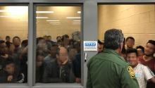 MCALLEN, TX - JUNE 10: In this handout photo provided by the Office of Inspector General, adult males are detained in a cell with standing room only, as observed by OIG at U.S. Border Patrol McAllen Station on June 10, 2019, in McAllen, Texas. (Photo by Office of Inspector General/Department of Homeland Security via Getty Images)