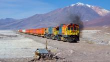 Tren en la frontera entre Bolivia y Chile. Fuente: Wikimedia/Commons