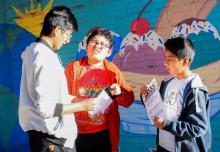 Los Trovadorcitos, a group of child filmmakers in Bolivia.