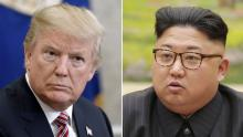 The President of the United States, Donald Trump, and his North Korean counterpart, Kim Jong-Un.