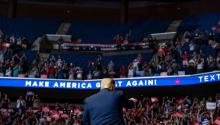 Donald Trump billed his Tulsa, Oklahoma, rally as a campaign launch, apparently hoping for a reset at a moment when his poll numbers are plunging. Photograph by Evan Vucci/AP/Shutterstock