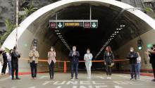 El presidente Iván Duque durante la inauguración del túnel el pasado viernes4 de septiembre.Photo: EFE