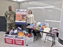 Donations made during last year's event. Photo: Operation Gratitude and PHLSports