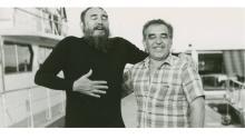 El aclamado escritor colombiano cantandocon Fidel Castro en La Habana,en1986.Foto: Harry Ransom Center, University of Texas at Austin.