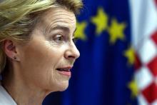 EU President Ursula von der Leyen gave her speech on the state of the European Union in 2021. Photo: AFP via Getty Images.