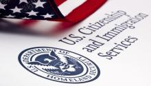 Logo of the United States Citizenship and Immigration Service. Source: https://www.fmlainsights.com
