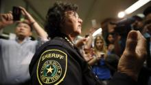 Lupe Valdez, in her Dallas Sheriff's uniform. Source: https://www.texasobserver.org/