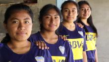 Some of the indigenous women in Oaxaca flipping the norms of soccer on their heads. Photo: VALIENTES