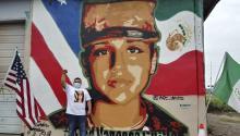El mural está ubicado 400 millas al sur de donde Vanessa fue vista por última vez. Photo: The Monitor.