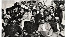 Pancho Villa y Emiliano Zapata en Ciudad de México. Photo: Fundación Centro Histórico.
