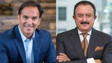 Sol Trujillo (right) is the Chair and Co-founder of the Latino Donor Collaborative (LDC), and co-founder of L'ATTITUDE. José E. Cil (left) is Chief Executive Officer (CEO) of Restaurant Brands International Inc. (RBI).