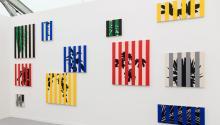 El stand de la galería colombianaInstituto de Visión en la Frieze Art Fair New York de 2015. Foto:Mark Blower/Frieze.