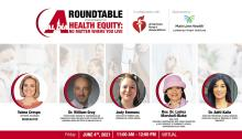 AL DÍA'sHealth Equity: No Matter Where You Live Roundtable took place on June 4. Graphic: AL DÍA News.