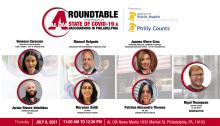 The State of COVID-19 and Vaccinations in Philadelphia Roundtable discussion took place on July 8, 2021. Graphic:AL DÍA News