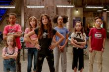 'We Can Be Heroes', los niños superhéroes: Vivien Blair, Isaiah Russell-Bailey, Lotus Blossom, YaYa Gosselin , Akira Akbar, Hala Finley, Dylan Henry Lau. FOTOGRAFÍA: Ryan Green/NETFLIX.