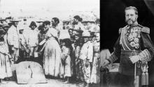(Derecha) El generalValeriano Weyler. (Izquierda) Civiles cubanos durante el periodo de la reconcentración.Photo: El Independiente